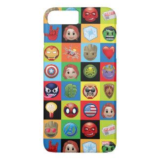 Marvel Emoji Characters Grid Pattern iPhone 8 Plus/7 Plus Case