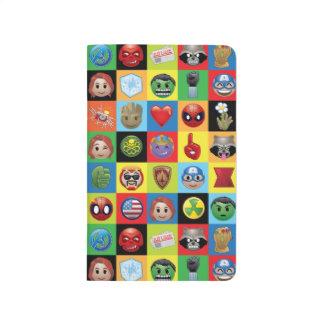 Marvel Emoji Characters Grid Pattern Journal