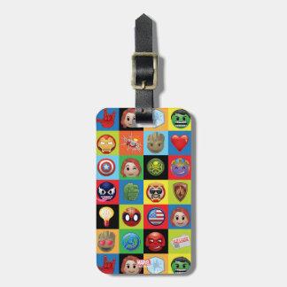 Marvel Emoji Characters Grid Pattern Luggage Tag