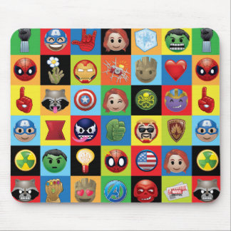 Marvel Emoji Characters Grid Pattern Mouse Pad