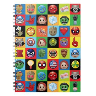 Marvel Emoji Characters Grid Pattern Notebook