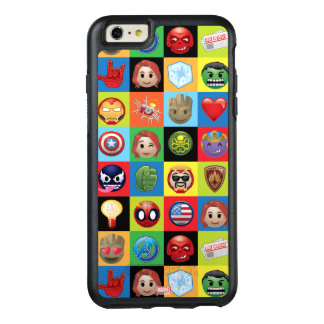 Marvel Emoji Characters Grid Pattern OtterBox iPhone 6/6s Plus Case