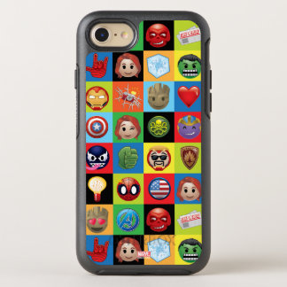 Marvel Emoji Characters Grid Pattern OtterBox Symmetry iPhone 8/7 Case