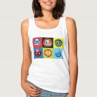 Marvel Emoji Characters Grid Pattern Singlet