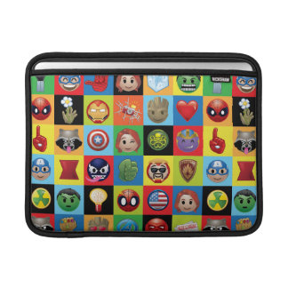 Marvel Emoji Characters Grid Pattern Sleeve For MacBook Air