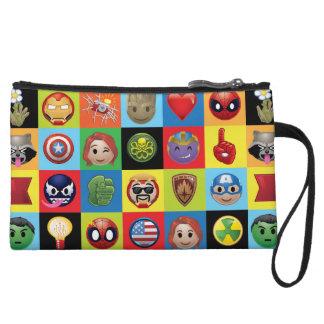 Marvel Emoji Characters Grid Pattern Wristlet