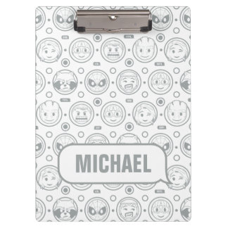 Marvel Emoji Characters Outline Pattern Clipboard