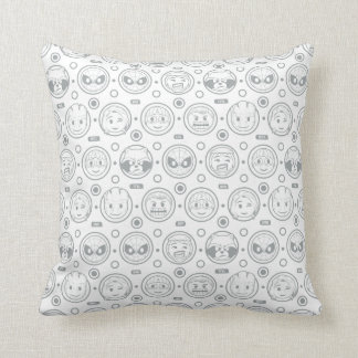 Marvel Emoji Characters Outline Pattern Cushion