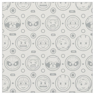 Marvel Emoji Characters Outline Pattern Fabric