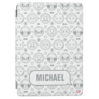 Marvel Emoji Characters Outline Pattern iPad Air Cover