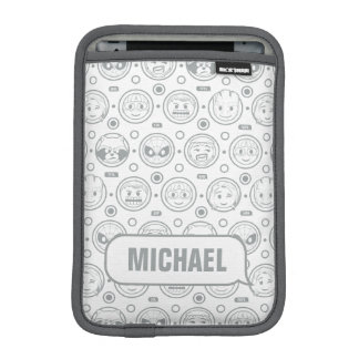 Marvel Emoji Characters Outline Pattern iPad Mini Sleeve
