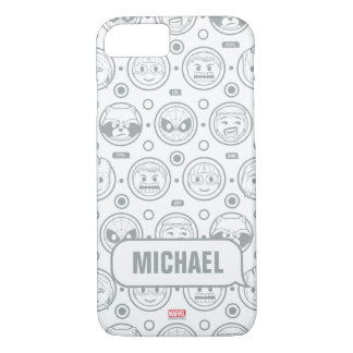 Marvel Emoji Characters Outline Pattern iPhone 8/7 Case