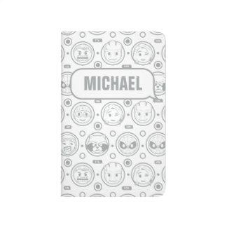 Marvel Emoji Characters Outline Pattern Journal