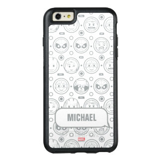 Marvel Emoji Characters Outline Pattern OtterBox iPhone 6/6s Plus Case