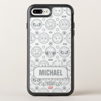 Marvel Emoji Characters Outline Pattern OtterBox Symmetry iPhone 8 Plus/7 Plus Case