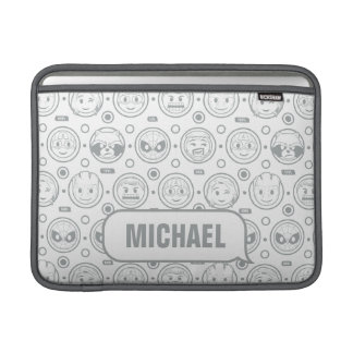 Marvel Emoji Characters Outline Pattern Sleeve For MacBook Air