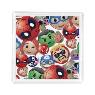 Marvel Emoji Characters Toss Pattern Acrylic Tray