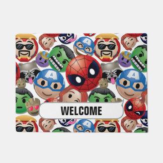 Marvel Emoji Characters Toss Pattern Doormat