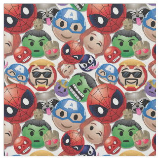 Marvel Emoji Characters Toss Pattern Fabric