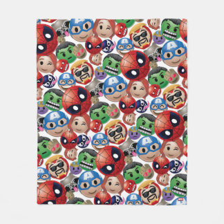 Marvel Emoji Characters Toss Pattern Fleece Blanket