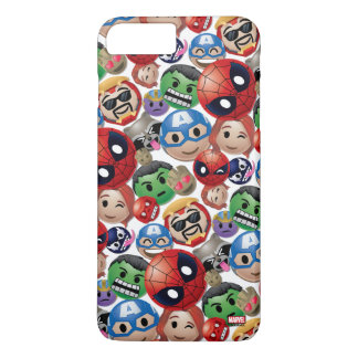Marvel Emoji Characters Toss Pattern iPhone 8 Plus/7 Plus Case