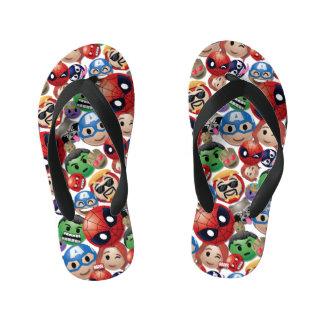 Marvel Emoji Characters Toss Pattern Kid's Thongs