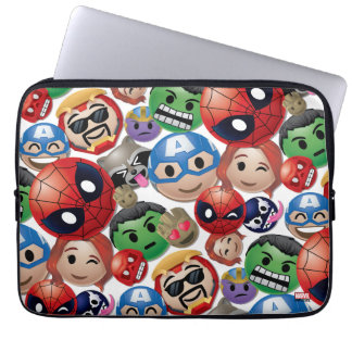 Marvel Emoji Characters Toss Pattern Laptop Sleeve