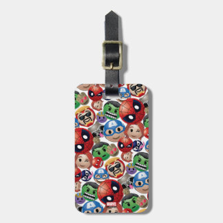 Marvel Emoji Characters Toss Pattern Luggage Tag