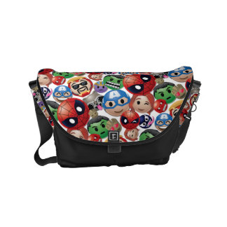 Marvel Emoji Characters Toss Pattern Messenger Bags