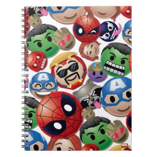 Marvel Emoji Characters Toss Pattern Notebook