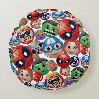 Marvel Emoji Characters Toss Pattern Round Cushion