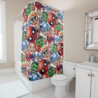 Marvel Emoji Characters Toss Pattern Shower Curtain