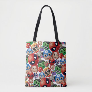 Marvel Emoji Characters Toss Pattern Tote Bag