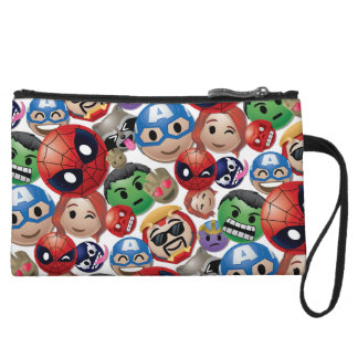 Marvel Emoji Characters Toss Pattern Wristlet