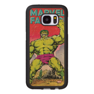 Marvel Fanfare Hulk Comic #29 Wood Samsung Galaxy S7 Case