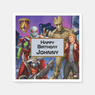 Marvel | Guardians of the Galaxy - Birthday Disposable Serviette