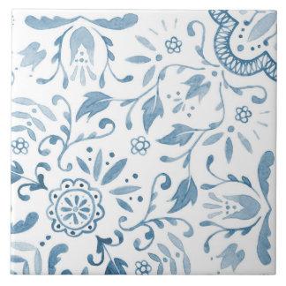 Marvellous Vintage Blue Pattern Ceramic Tile