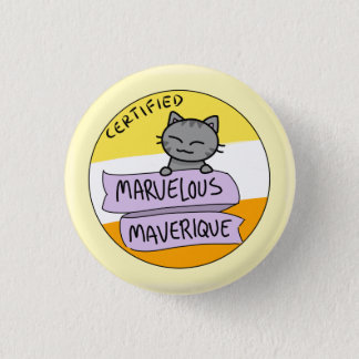 Marvelous Maverique 3 Cm Round Badge