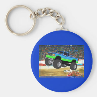 Marvelous Monster Truck in the Arena Basic Round Button Key Ring