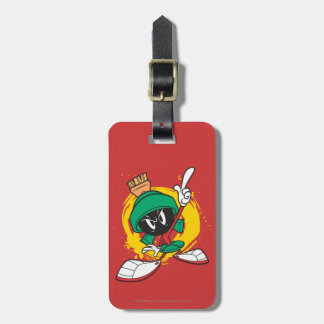 Marvin Pointing Upward Luggage Tag