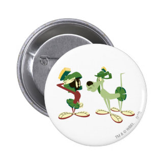 MARVIN THE MARTIAN™ and K-9 2 6 Cm Round Badge