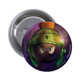 MARVIN THE MARTIAN™ Battle Hardened 6 Cm Round Badge