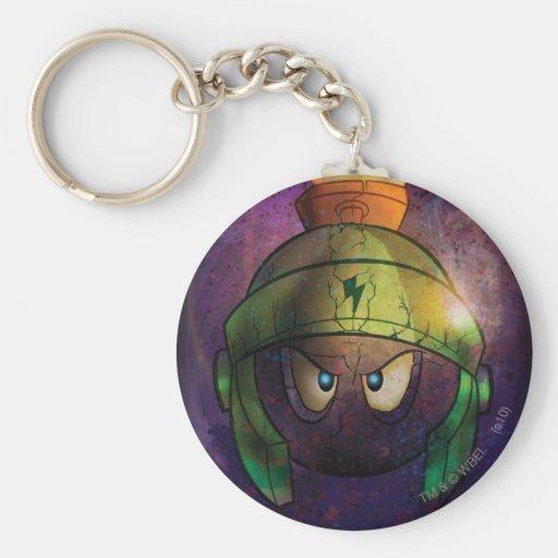 MARVIN THE MARTIAN™ Battle Hardened Basic Round Button Key Ring