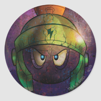 MARVIN THE MARTIAN™ Battle Hardened Round Sticker