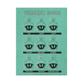 MARVIN THE MARTIAN™ Current Mood Chart Canvas Print