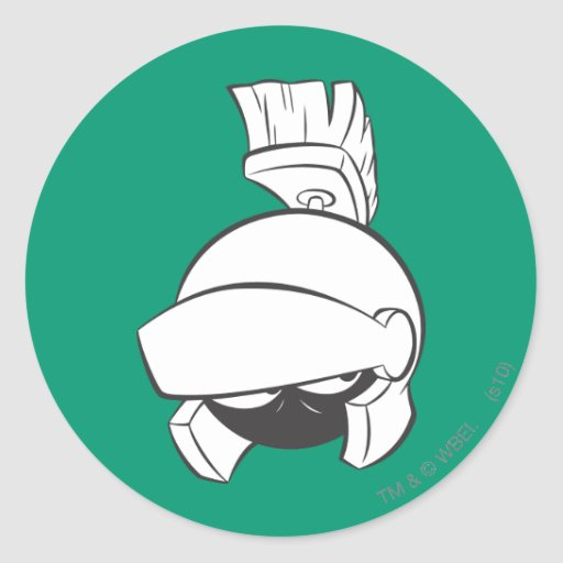 Marvin the Martian Expressive 4 Round Stickers