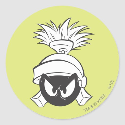 Marvin the Martian Expressive 5 Round Sticker