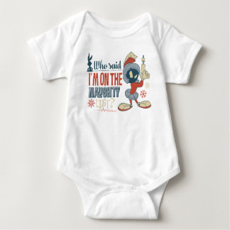 MARVIN THE MARTIAN™- I'm On The Naughty List? Baby Bodysuit