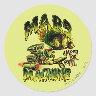 MARVIN THE MARTIAN™ Mars Machine Round Sticker