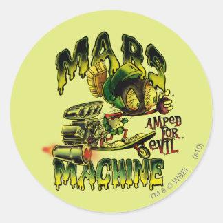 MARVIN THE MARTIAN™ Mars Machine Classic Round Sticker